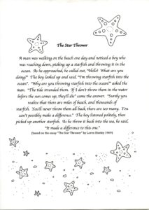 "Resource: Story ""The Star Thrower"""